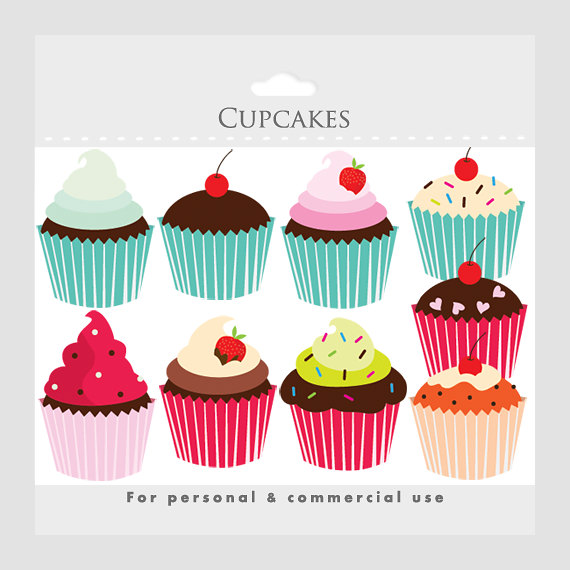 Pastry clipart cherry cupcake Clip  clipart Cupcakes art