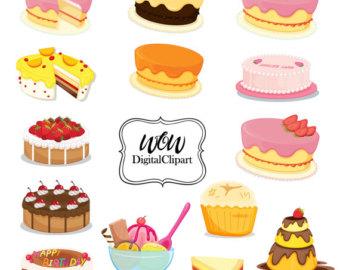 Chocolate clipart bakery food Clip digital digital cupcake birthday