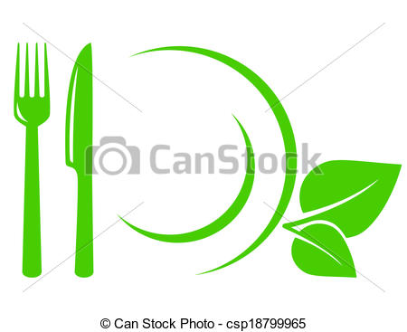 Khife clipart green Fork icon Clip with and