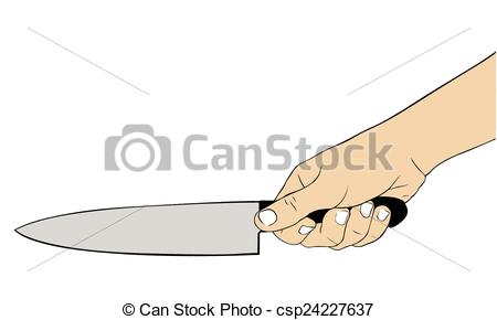 Knife clipart hand holding Illustration knife hand a holding