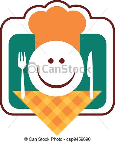Smiley clipart chef Chef knife happy Vector