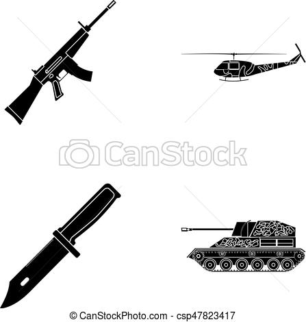 Assault Rifle clipart military Rifle icons Vector knife combat