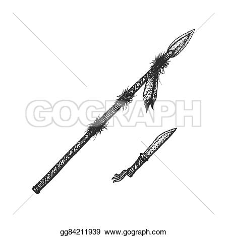 Native American clipart knife Style dotted indian native element
