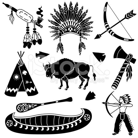 Native American clipart knife Royalty vector free Black vector