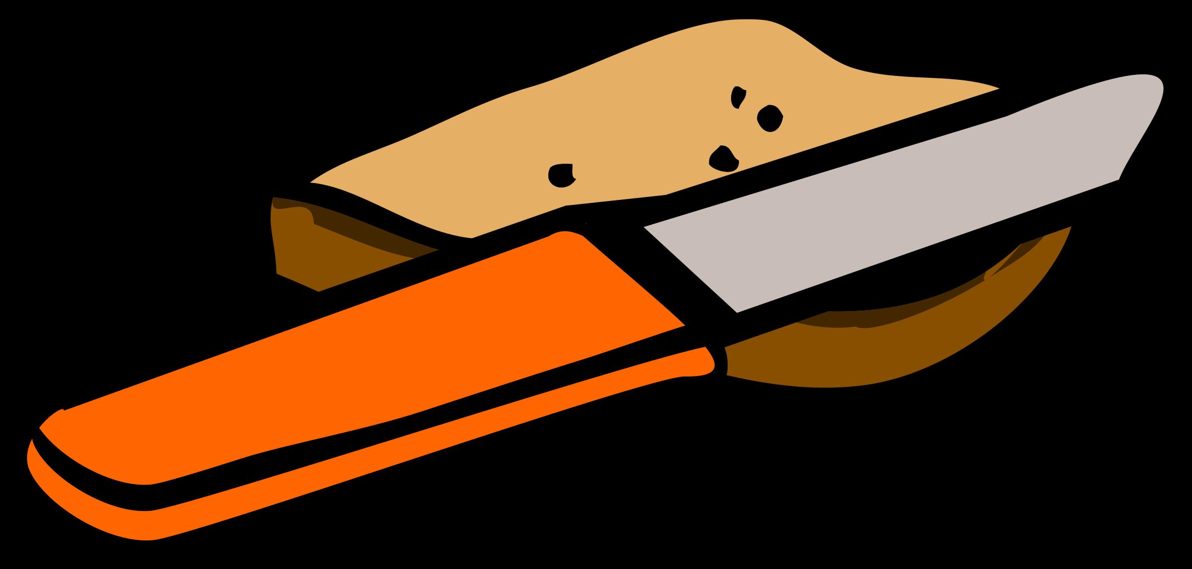 Khife clipart orange And knife bread of bread