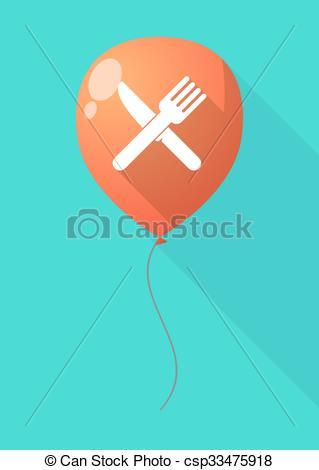 Khife clipart shadow A of balloon fork shadow