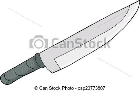 Knife clipart sharp knife Single csp23773807  drawn of