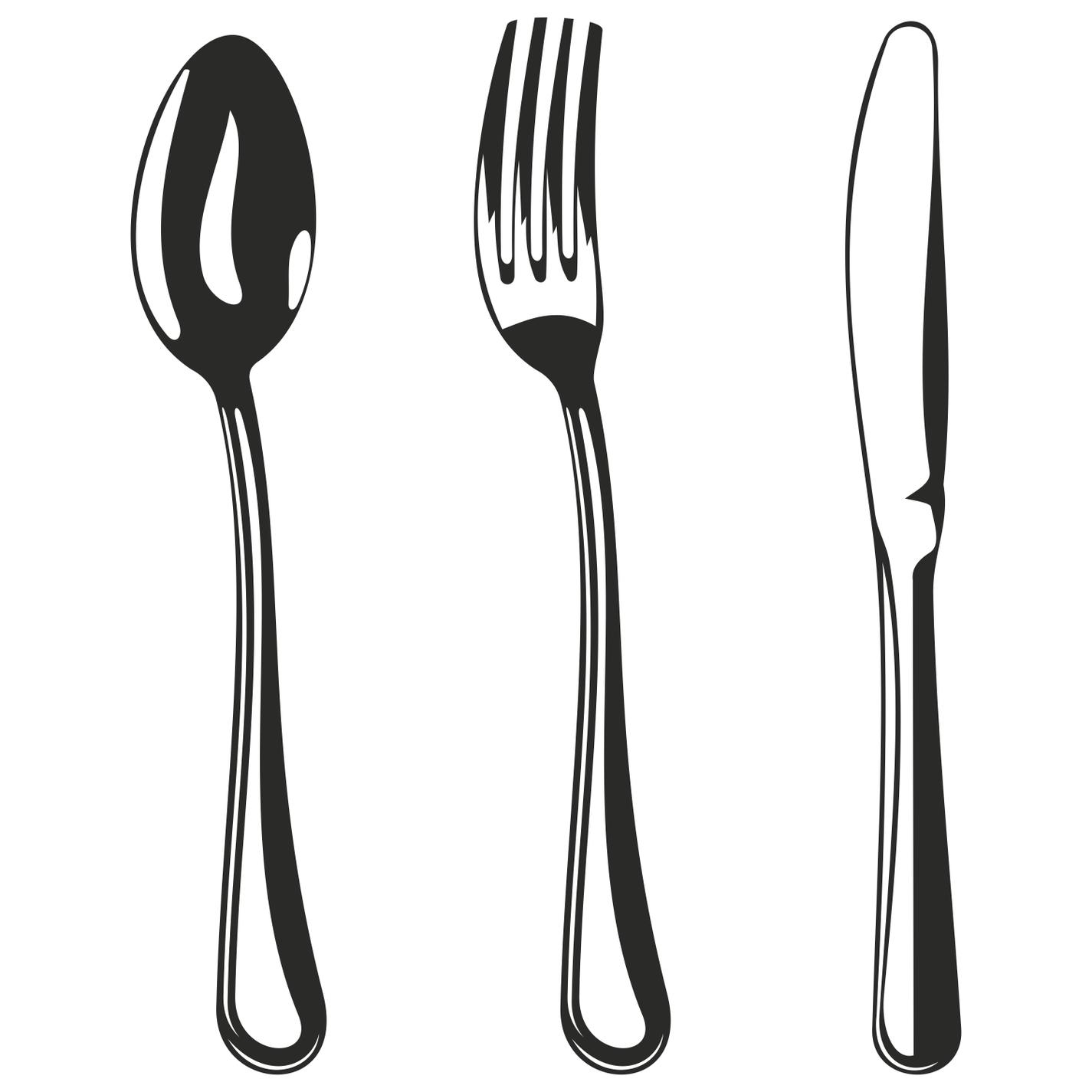 Khife clipart spoon Fork Database knife  Forks