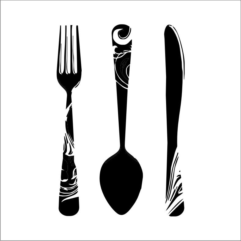Khife clipart spoon Fork 2 china Vintage clip