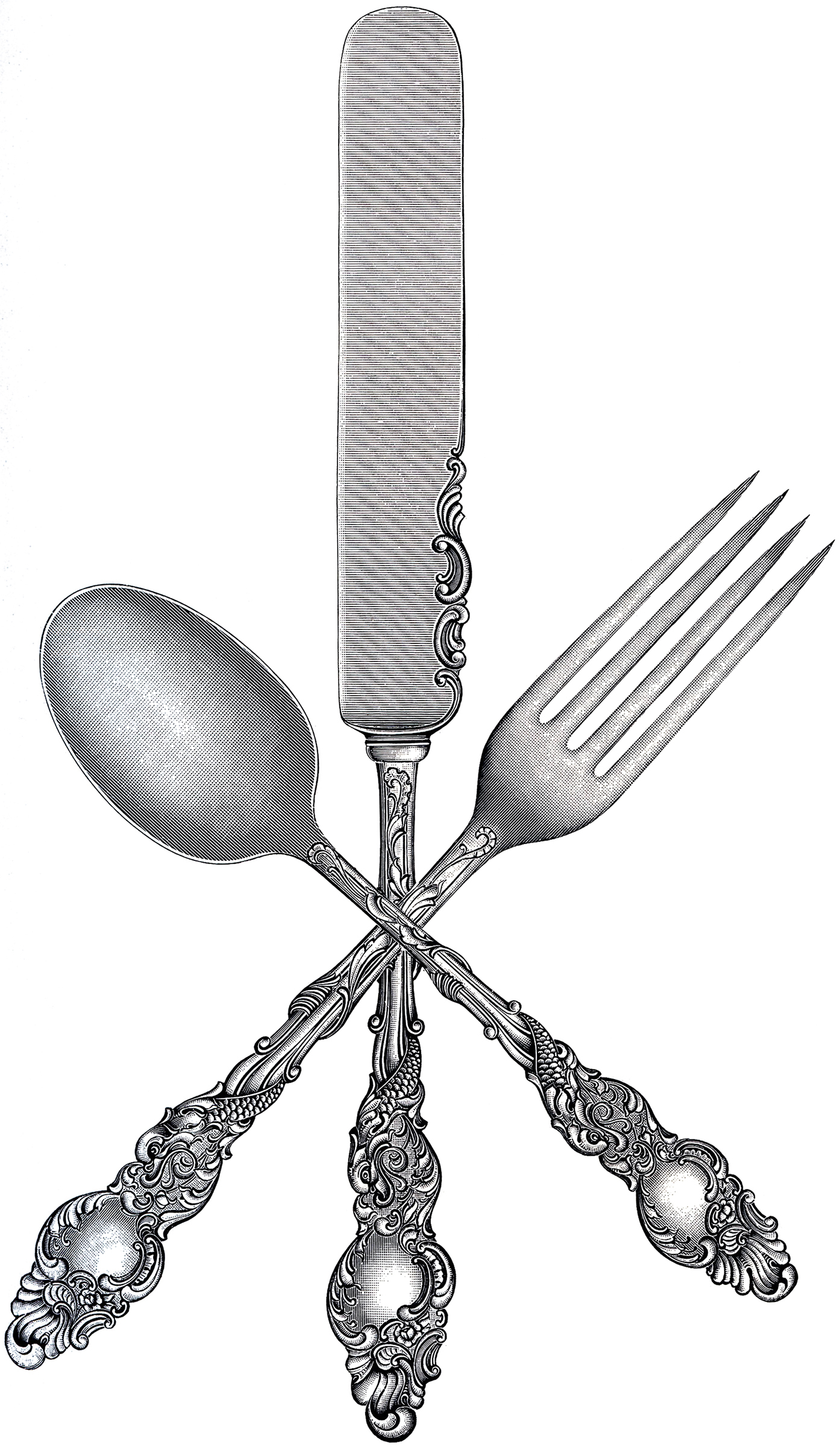Khife clipart spoon Fork Fairy Knife Free Spoon