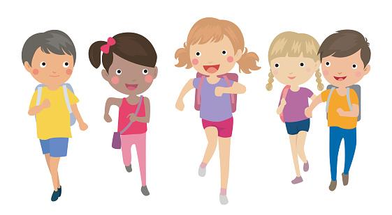 Kids Running Clipart #15