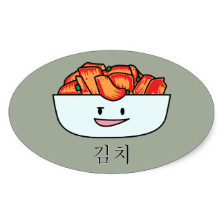 Kimchi clipart Sticker Kimchi Oval Zazzle Kimchee
