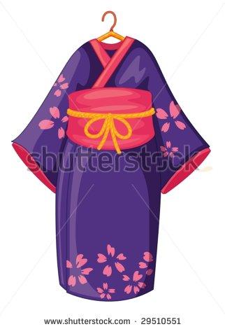 Kimono clipart #1