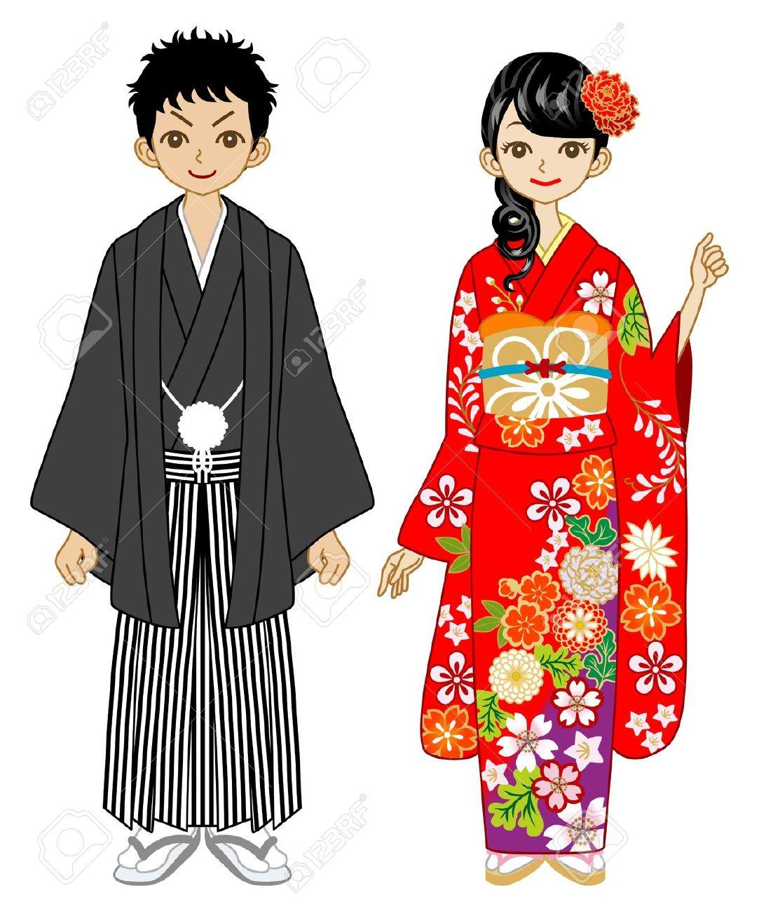 Geisha clipart kimono Girl japanese kimono Clipart kimono