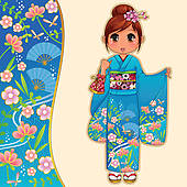 Kimono clipart #6
