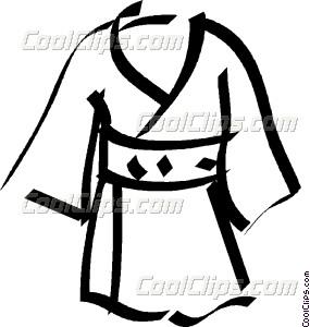 Kimono clipart #13