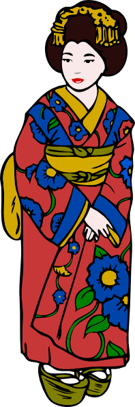 Kimono clipart #3