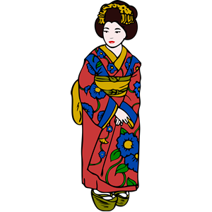 Kimono clipart #4