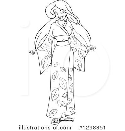 Kimono clipart Illustration Illustration Royalty by Clipart