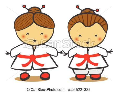 Kimono clipart japanese child Traditional In Japanese Traditional Children