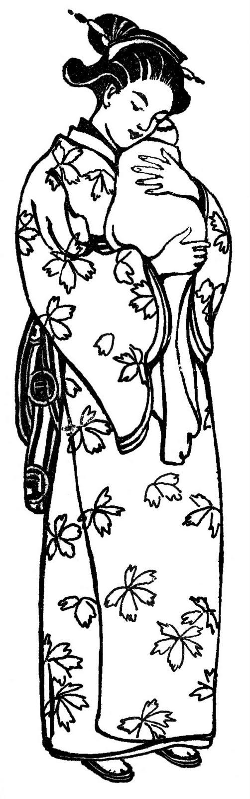 Kimono clipart japanese child Images Fairy Kimono  LLC*: