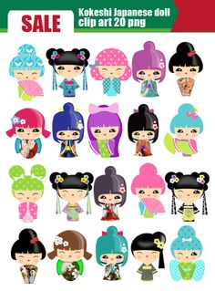 Kimono clipart japanese doll #doll Search heart #girl templates