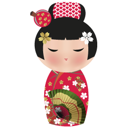 Kimono clipart japanese doll Png Pinterest Icon Doll 256x256