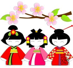 Kimono clipart japanese doll Asian I one girls scrapbook!