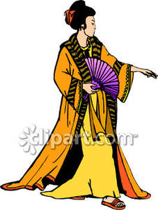 Kimono clipart japanese man With In Woman a with