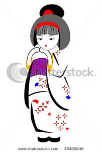 Kimono clipart japanese kimono Japanese Image: a Girl Image: