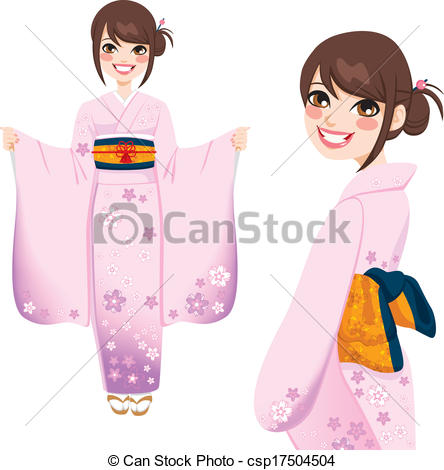 Kimono clipart japanese kimono Kimono Japanese Clipart in Woman