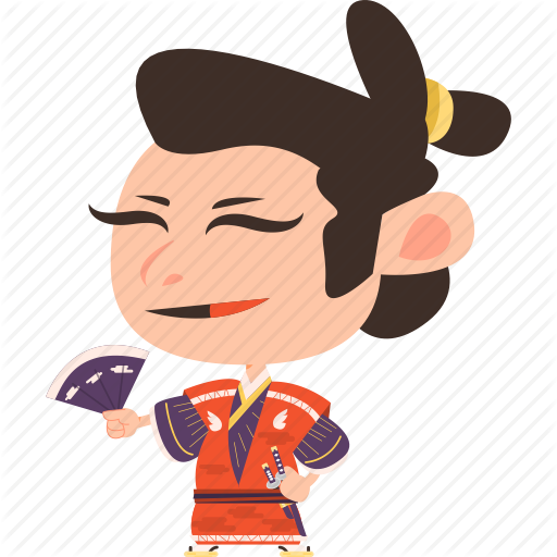 Kimono clipart japanese man Man character guard japanese japan