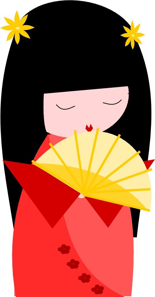 Kimono clipart kokeshi Kokeshi 190 on images about
