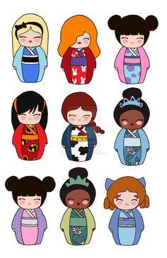 Kimono clipart kokeshi Clip  Popular on dibujos