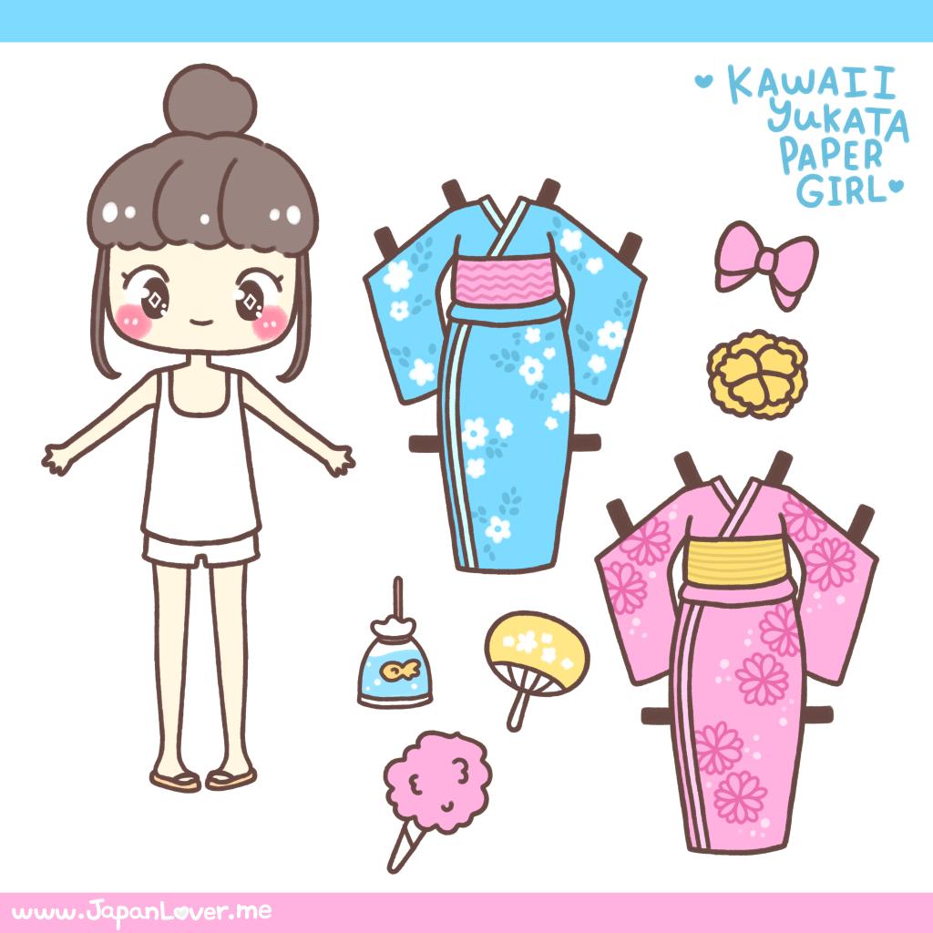 Kimono clipart yukata Me by Paper Girl Me