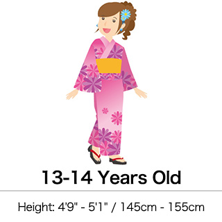 Kimono clipart yukata Kimono & Japanese Girls' Yukata