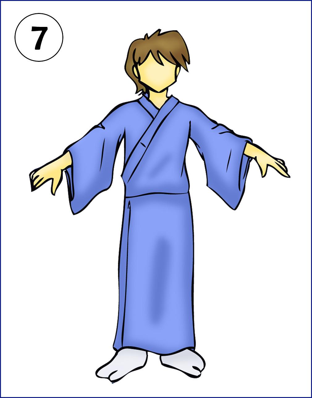 Kimono clipart yukata To to and How 5