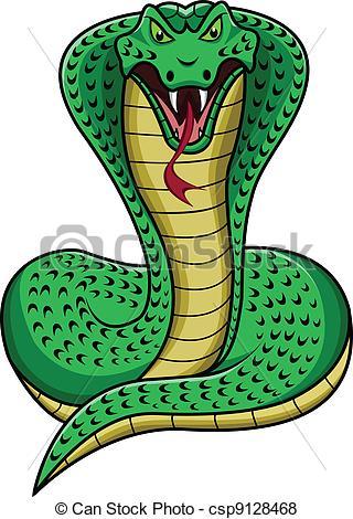 King Cobra clipart Cartoon Vector of illustration king