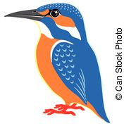 Kingfisher clipart Kingfisher side Vector common EPS