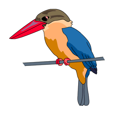 Kingfisher clipart Stork by free billed Stork…