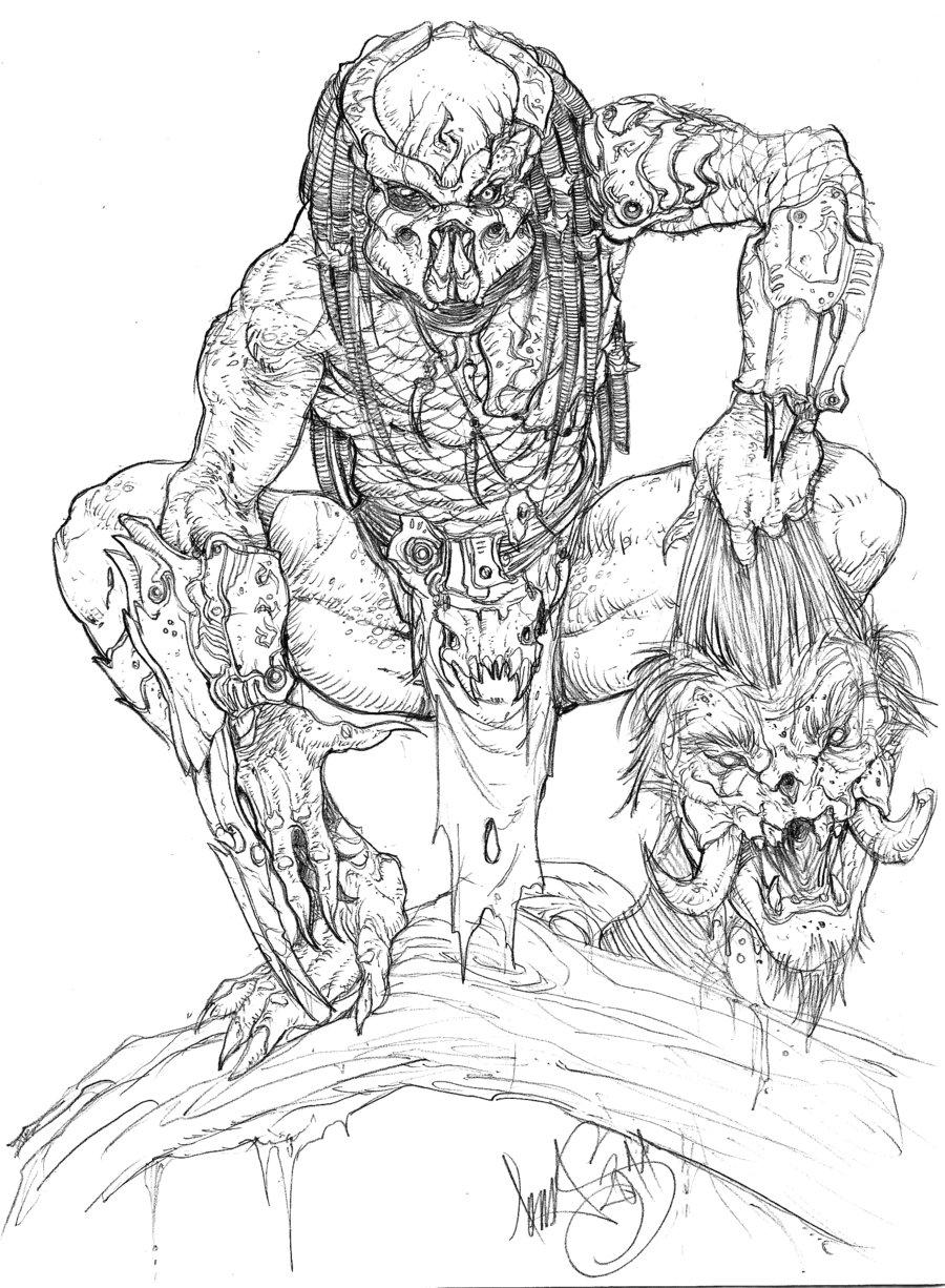 Drawn predator linework #5 The The Witcher Witcher
