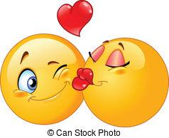Kisses clipart yellow Emoticons Illustration  Kissing Kissing