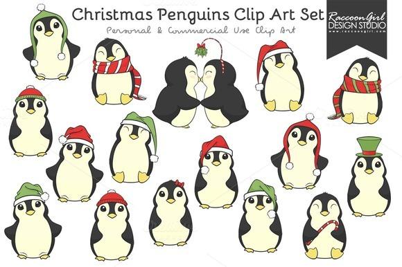 Penguin clipart kiss Cute Penguins images Christmas Clip