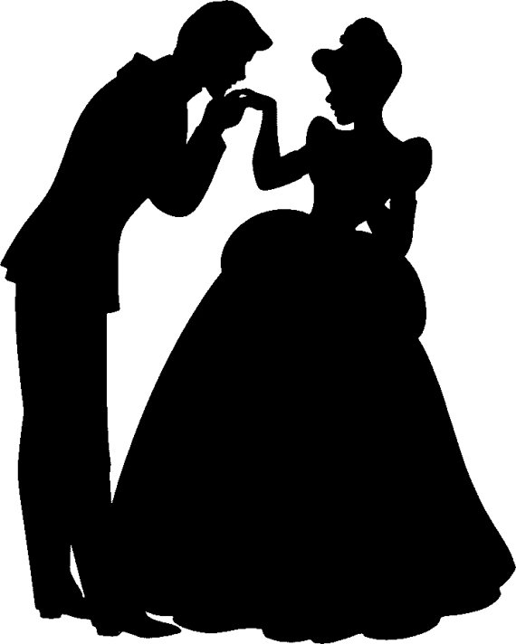 Kisses clipart cinderella 00 Prince Silhouette Hand Charming