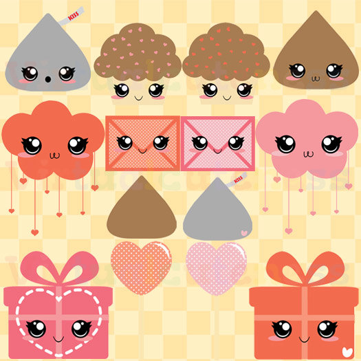 Kisses clipart cute Chocolate Art Day Chibi Art