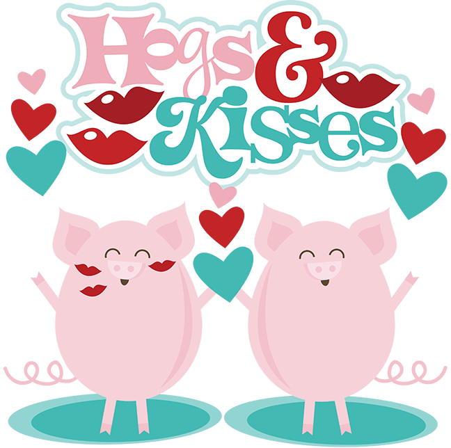 Kisses clipart cute Cuts Hogs scrapbook SVG Kisses