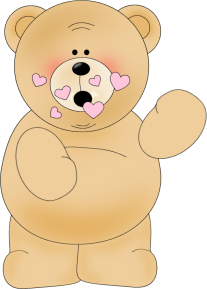 Kisses clipart cute Bear Art clip Kisses a
