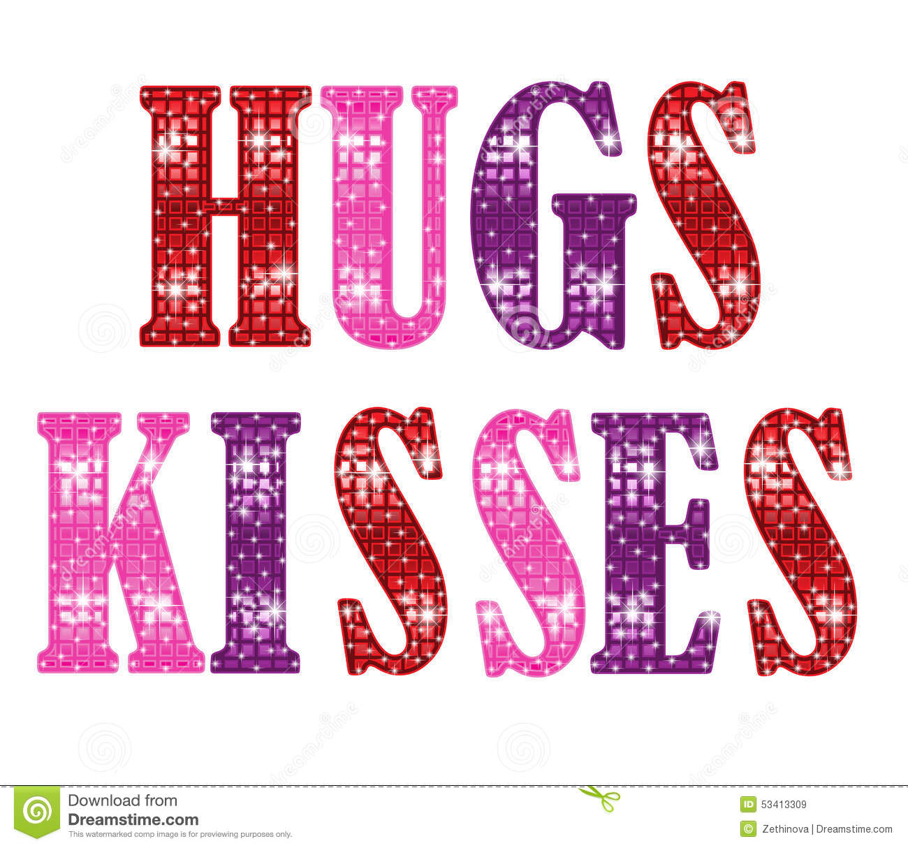 Kisses clipart hugs and kisses Hugs Stock Illustration Clipart And