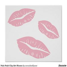 Kisses clipart light pink White Greek Card You Pink