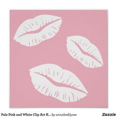 Kisses clipart light pink Pink and Pink Thank